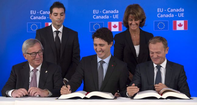 EU, Canada agree start of free trade agreement