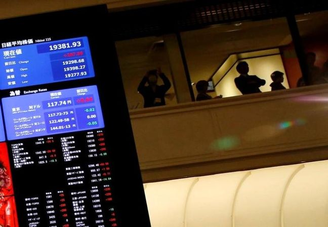 Asian shares rattled by Trump policy worries, dollar soft