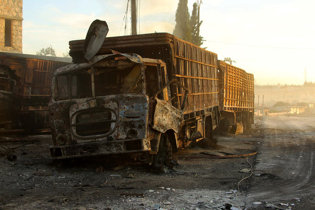 US believes Russian aircraft hit Syria convoy