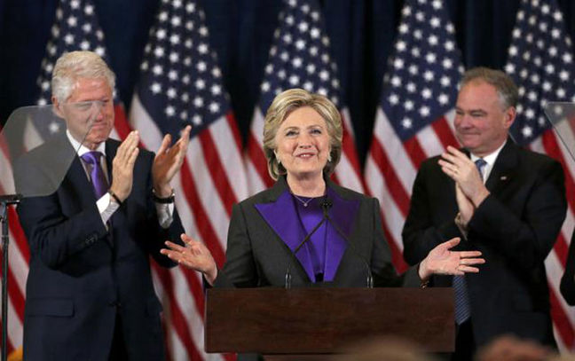 Clinton, Obama pledge unity behind Trump presidency