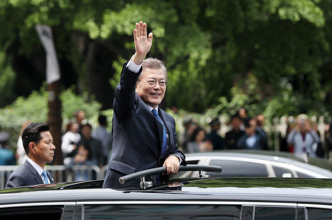 South Korea's Moon says 'high possibility' of conflict with North as missile crisis builds
