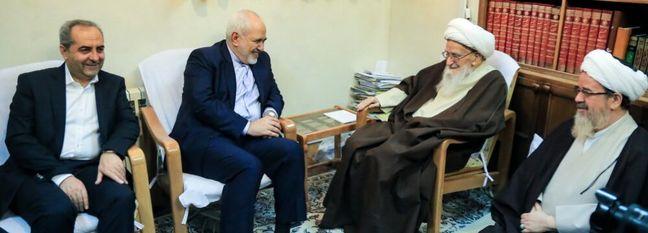 Zarif Briefs Top Clerics on Rouhani's Iraq Trip, Current Affairs