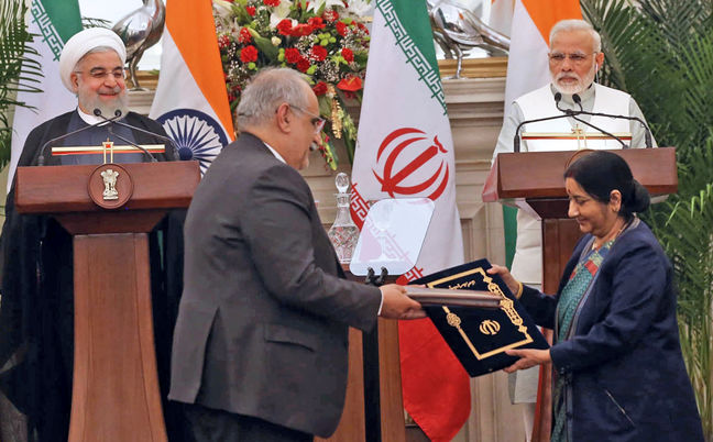 Tehran, Delhi Sign 15 Major Deals