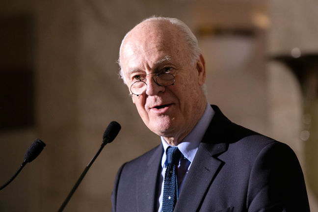 UN envoy in Tehran ahead of Syria peace talks