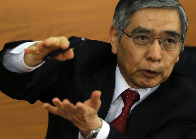 BOJ's Kuroda says won't rule out deepening negative rate cut-Sankei
