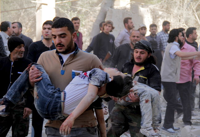 Russia questions report blaming Syrian government for gas attacks