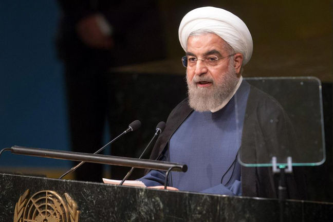 Iran president urges France to play productive role in Middle East