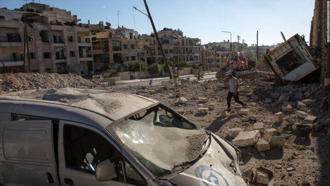 Syria presses Aleppo advance, tells rebels to leave