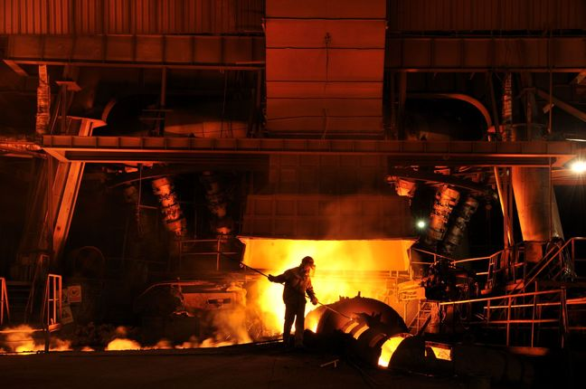 Steel Output Up 13.7%