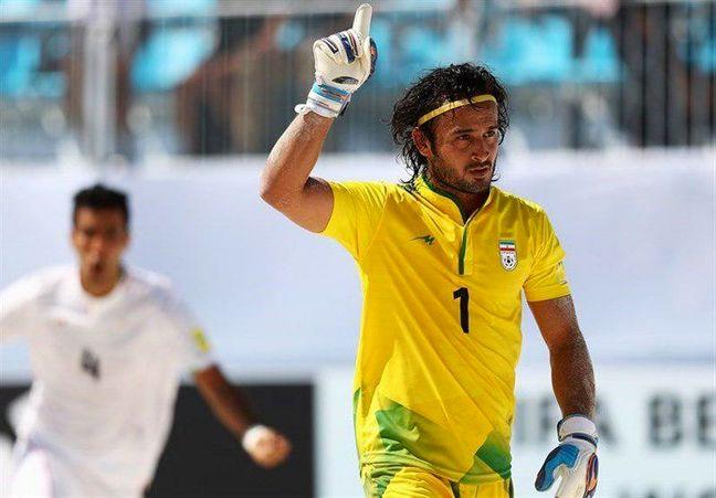 Iranian beach footabller wins best goalkeeper, goal titles