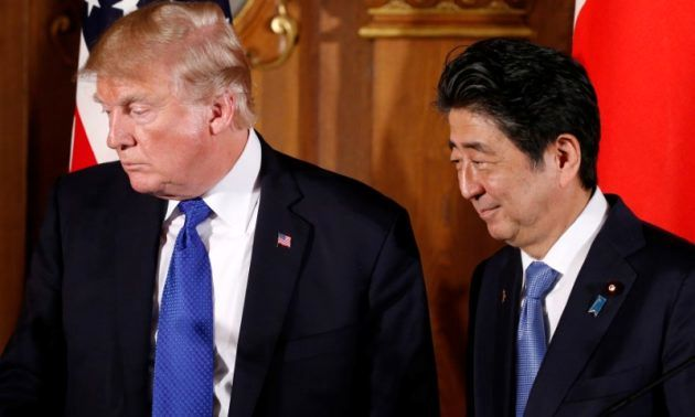 Trump giving Japan's Abe a hard time on trade despite close ties