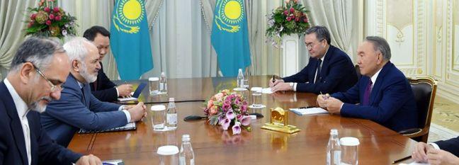 Zarif Meets Kazakhstan's Nazarbayev in Nursultan