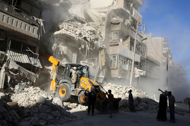 Air strikes, fighting break Russian-declared ceasefire in Syria's Aleppo