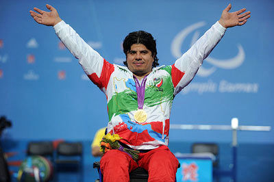 Iranian weightlifter Majid Farzin breaks world record