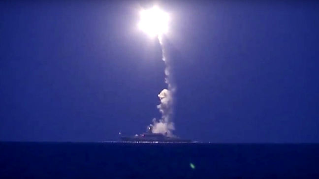 Russian cruise missiles target Syria