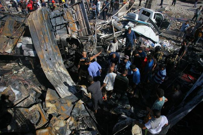 Suicide truck bomb kills more than 80 in Iraq, most of them Iranian pilgrims