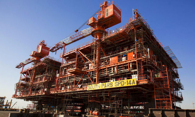 South Pars Phase 14 Platform Sets record
