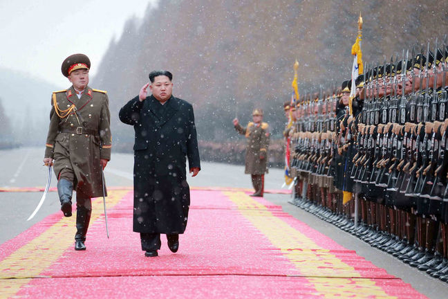 North Korea's Kim says close to test launch of ICBM
