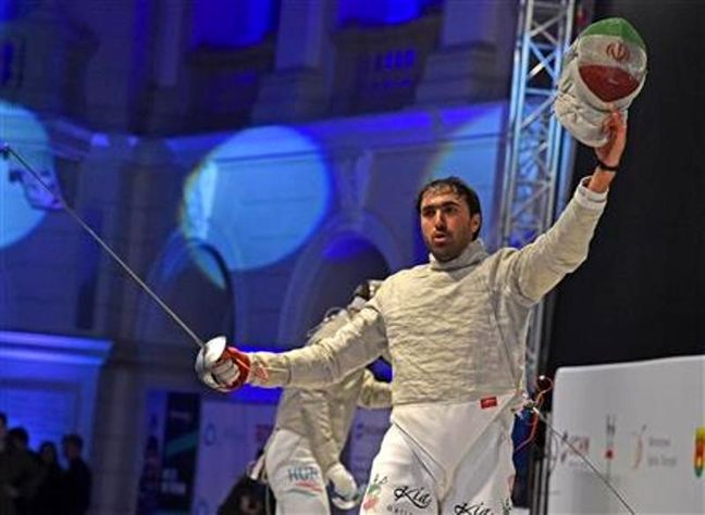 Iranian fencer bags bronze at Poland World Cup
