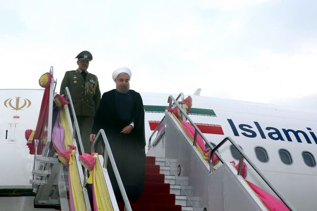 President Rouhani back home from Southeast Asia tour