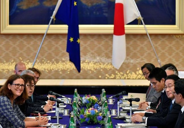 Japan, EU on cusp of free trade agreement after U.S. TPP rebuff