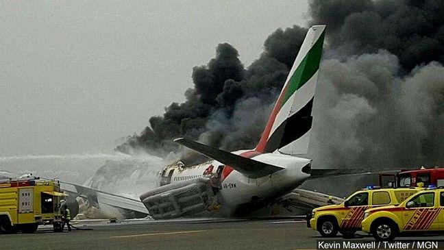Dubai Retrieving Black Boxes of Emirates Plane After Fiery Crash