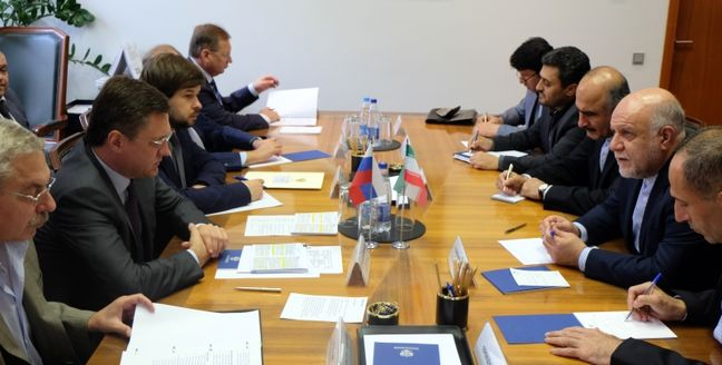Zanganeh, Novak Discuss Energy Coop. in Moscow