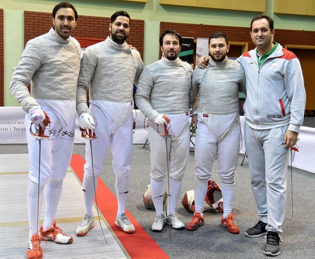 Iran sabre fencing team runner-up in Poland World Cup