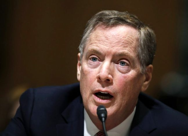 USTR Lighthizer: Trump challenging China's industrial policies - radio interview