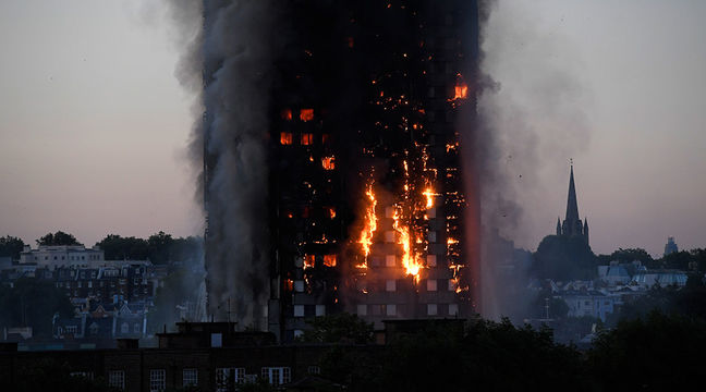 At least 30 injured after huge fire engulfs 27-story London tower block