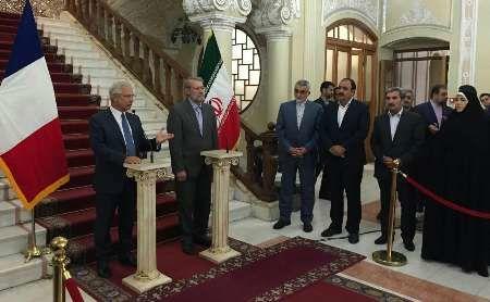 Iran, France parliament speakers stress boosting bilateral ties