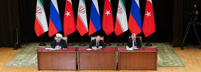 Iran, Russia, Turkey Presidents Committed to Progress in Syria