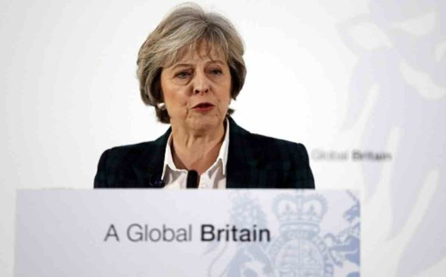 UK PM May says EU repeal bill best way to avoid Brexit 'cliff edge'