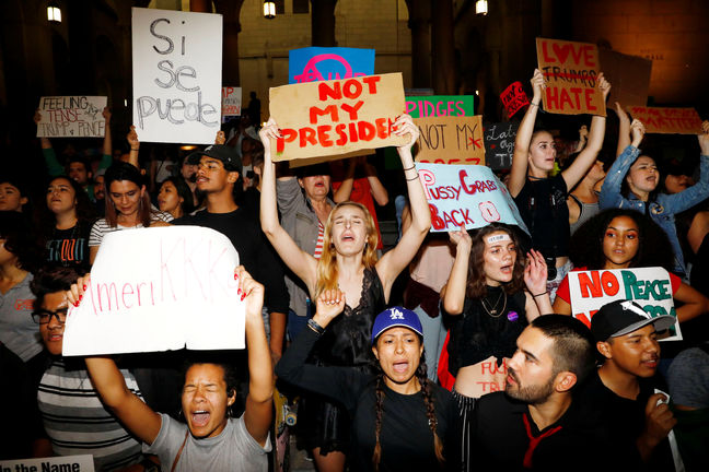 Anti-Trump protest leaders say preparing for long fight