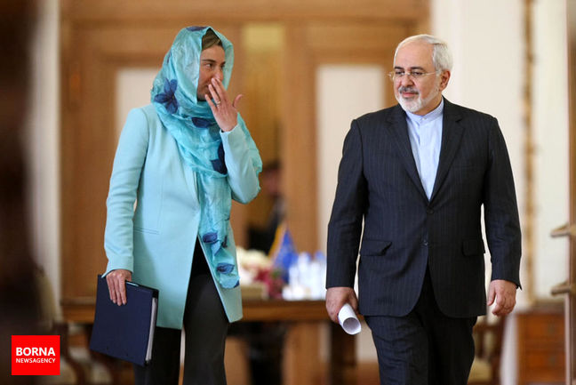 Zarif, Mogherini discuss issues of mutual interest