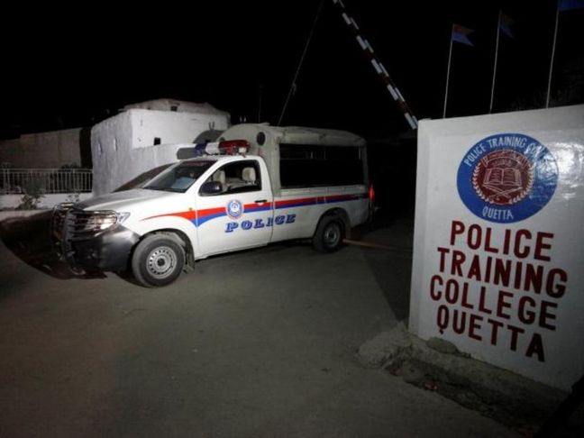 Gunmen kill 59 in attack on police academy in Pakistani city of Quetta