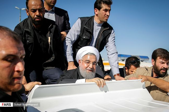 Collapsed state housing in Iranian quake shows corruption: Rouhani