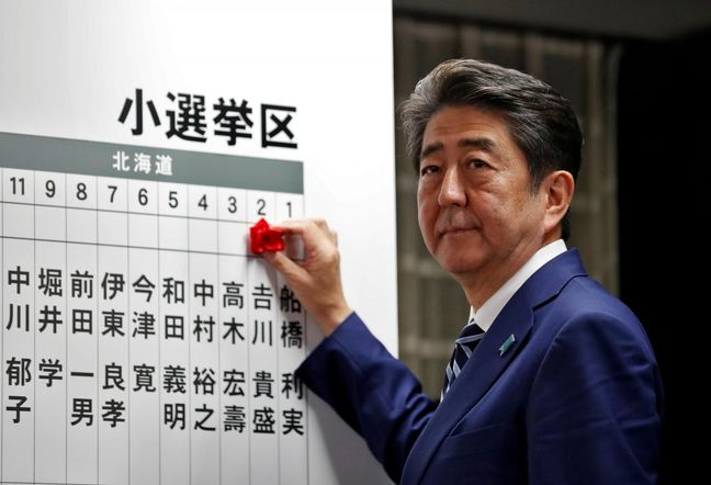 Abe Placed to Lead Japan Through 2021 After Big Election Win