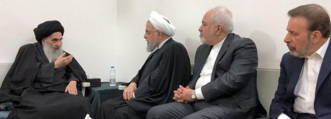 Rouhani Meets Ayatollah Sistani