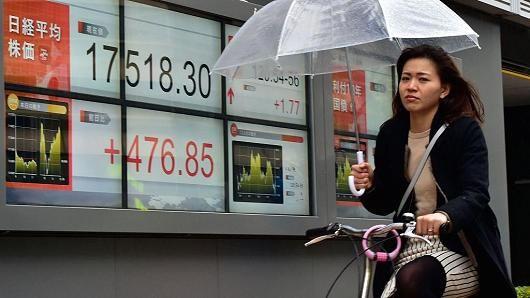 Dollar Falls, Asia Stocks Mixed on Trump Moves